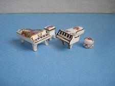 Mobilier Miniature , PIANOS  en  Porcelaine de Limoges