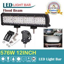 """12"""" 576W LED Arbeitsscheinwerfer Flutlicht Offroad LKW Zusatzscheinwerfer 12-24V"""