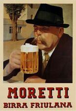 Birra Moretti Italian Retro Beer Pub Shed Bar Man Cave Metal Vintage plaque SIGN