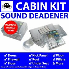 Heat & Sound Deadener Chevy Truck 1973 - 1987 Cabin Kit + Seam Tape 39633Cm2 hot