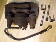 1997FORD ESCORT FRONT LEFT DRIVER SIDE LH BRAKE CALIPER W/ HOSES, BOLTS, CLIPS