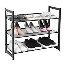 Schuhregal rutschfest Schuhschrank verstellbare Schuhablage stapelbar LMR03B