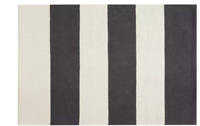 120 x 180 Habitat Raya Woven Cotton Rug 120 x 180cm Black White Carpet Runner