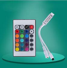 Mini 24Key IR Remote Controller Wireless 12V For 3528 5050 RGB LED Strip home EN