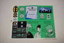 LEGO BATMAN 7783 THE BATCAVE STICKER SHEET ONLY NEW AUTHENTIC AS SHOWN