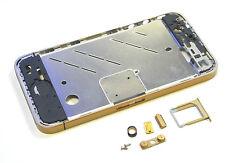 Apple iPhone 4  Mittelrahmen Middle Frame Gehäuse Rahmen Bezel Tasten Gold Matt