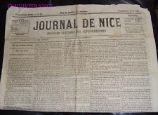 DOC185 - JOURNAL ECLAIREUR DE NICE 17 AVRIL 1868