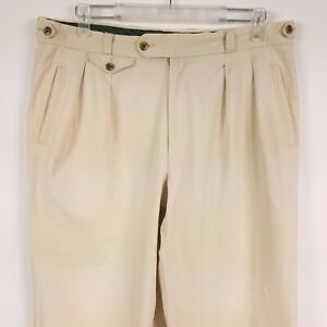Mens Vintage Tailor Pants Brax Military Chino Trousers  Size: 52 beige