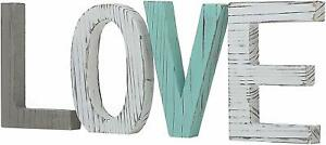 """Nice Shabby Chic Country Farmhouse Style Wooden Letters """"LOVE"""" Sign"""