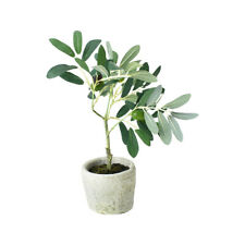 Artificial Olive Tree in Pot, 12-Inch