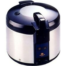 Stainless Steel Commercial 26 Cup Rice Cooker. Heavy-Duty Restaurant Steam Warm