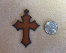 Rustic Iron Cross with Pointed Ends Pendant