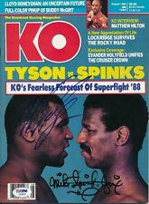 Mike Tyson Michael Spinks Signed KO Magazine Autograph Auto PSA/DNA Y03631