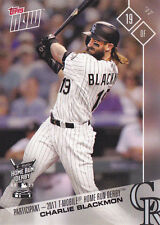 2017 Topps NOW HRD-6 Charlie Blackmon Rockies All Star T-Mobile Home Run Derby