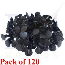 120PCs 8mm Car Auto Plastic Trim Rivets Buckle Fastener Clip Clips Black