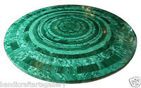"30"" Marble Coffee Center Table Top Malachite Handmade Inlay Work Decors  H2056"