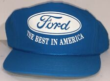 Vtg Ford Trucks Neon Blue Trucker Farmer Hat The Best In America 90's
