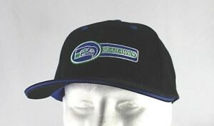 Seattle Seahawks Black/Blue  NFL Baseball Cap Snapback