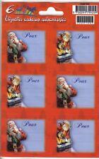 """6 étiquettes cadeaux autocollantes - """"Joyeuses Fêtes"""" - NEUF (n°3)"""
