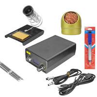 4 In 1 T12 OLED Soldering Welding Iron Station Kit +Desoldering Pump Tool 72W