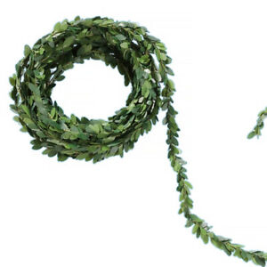 5m Mini Garland for Christmas Crafts and Decor - Oval Leaves