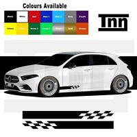 Side Stripe Stickers Graphics For Mercedes Benz A Class AMG A45 Merc Edition 1