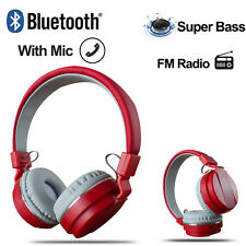 Foldable Wireless Bluetooth Stereo Headsets With Mic Headphones Super Bass Hi-Fi