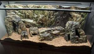 Aquarium Ornament Cave Hide For Fish Tank 3D Rock empty inside with holes