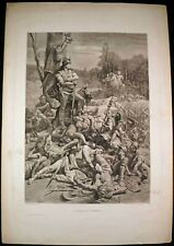 Antique Etching Art Print Titled: THE DEATH OF CORREUS D.U.N. Maillart, PINX.