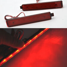 2x LED Rear Bumper reflector Brake Light For Cadillac CTS CTS-V sedan 2007-2013