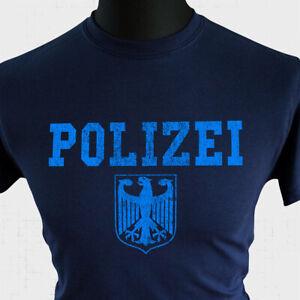POLIZEI T Shirt Police Eagle German Retro Blue Vintage