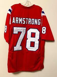 Bruce Armstrong Signed New England Patriots Jersey Beckett BAS COA Louisville