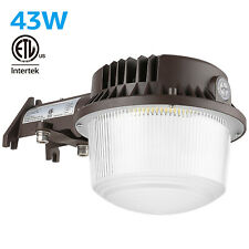 43W Outdoor Barn Lights with Photocell, Etl Dusk to Dawn Area Light Garage Patio