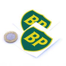 BP OIL 89 On Shield Classic Car STICKERS 75mm x2 Sports Racing decals Petrol