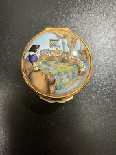 Halcyon Days Enamel Trinket Box Snow White And The Seven Dwarfs 106/1937-Used