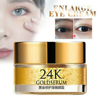 24K Gold Serum Anti Aging Wrinkle Eye Cream Remove Dark Circles Skin Care 20g