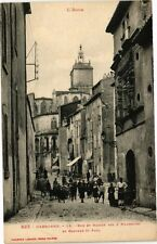 CPA Narbonne-Rue et Maison des 3 Nourrices et Clocher St Paul (260817)
