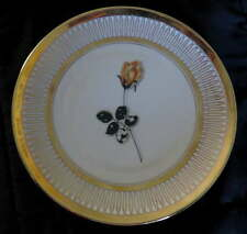 WINTERLING Yellow Rose Gold Rim PLATE Bavaria Germany China Ruslau Floral Cake