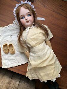"""Antique Simon & Halbig 1078 24"""" Composition doll S&H Circ 1900 w/ Clothes Shoes"""