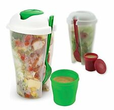 2-Pack: BPA Free 3 Piece Salad-To-Go Container Set