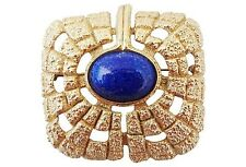 Signed Napier Egyptian Style Cabochon Rhinestone Runway Couture Brooch Pin