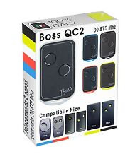 Telecomando Radiocomando BOSS compatibile  NICE BIO BT2K BT1K BT 2 k apricancell