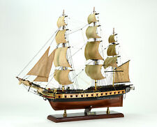 "1799 USS Essex Sailing Frigate Tall Ship Model 32"" Handcrafted Wooden Model"