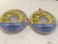 Climax 5X Fluorocarbon Tippet 30M~ 2 Spools~ One Price