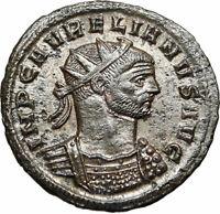 AURELIAN Authentic Ancient 274AD Original Genuine Roman Coin SOL SUN GOD i85005