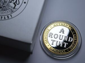 'A ROUND TUIT' Extremely Rare Coin. Gift/Present. Capsule & Gift Box. Bi Metal