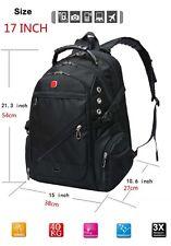 SWISSGEAR Waterproof Versatile MacBook Laptop Backpack Hike Travel Bag Schoolbag 17 Inch