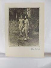 Boudoir Salon 1940s 50s  Decor Vintage print from photographers studio  Nude c