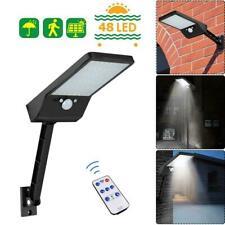 48 LED Remote Control Solar Light PIR Motion Sensor IP65 Outdoor Wall Lamp blacK