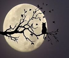 CAT IN TREE LOOKING AT THE MOON COMPUTER MOUSE PAD 9 X 7